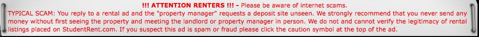 Rental Notice