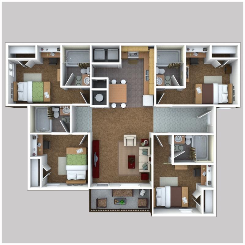 Rent Com Login: 4 Bed 4 Bath Apartment For Rent In Cape